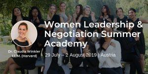 Women Leadership & Negotiation Summer Academy